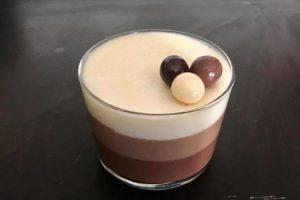 Tarta 3 chocolates el Brasero