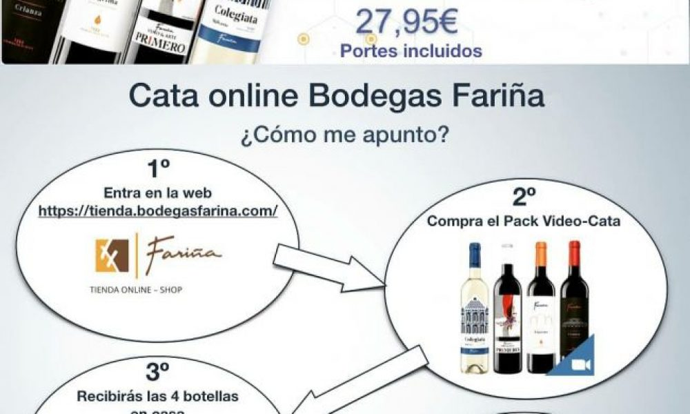 Cata de vinos Virtual Bodegas Fariña