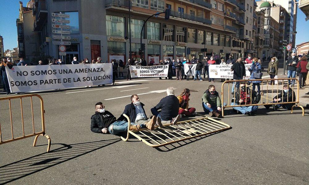 Manifestación de la hostelería zamorana