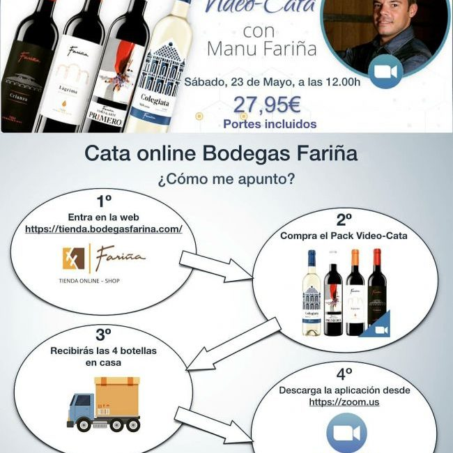 Bodegas Fariña promueve una cata virtual para el próximo sábado