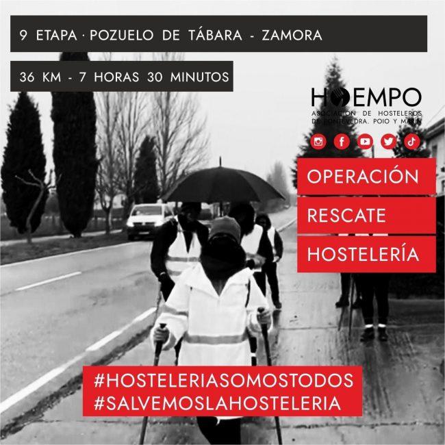 La hostelería de Pontevedra llegará hoy a las 5 a Zamora