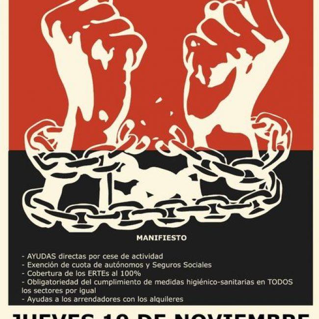 Manifestación del sector de la hostelería en Valladolid